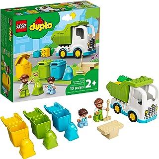LEGO DUPLO Town Garbage Truck and Recycling 10945 ساختمان آموزشی اسباب بازی؛ کامیون بازیافت برای کودکان نوپا و کودکان ؛ جدید 2021 (19 قطعه)