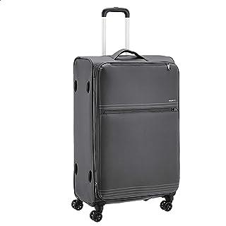 حقيبة سفر خفيفة الوزن وناعمة الجوانب ذات عجلات دوارة من امازون بيسكس، مقاس 32 انش، لون رمادي