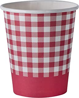 Picnic Themed 9 oz Disposable Paper Cups – Ideal for Family Dinner, Birthday and Picnic Parties(50 Pack)
