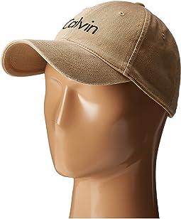 Calvin Klein - Washed Twill Adjustable Baseball Cap