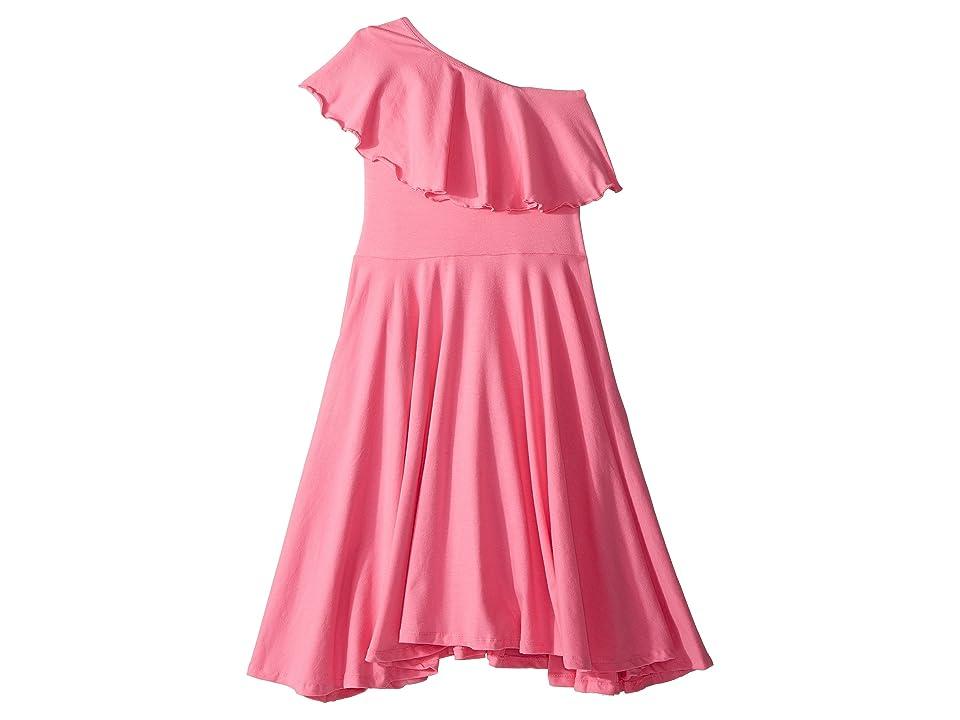 fiveloaves twofish Zoe One Shoulder Knit Dress (Little Kids/Big Kids) (Pink) Girl