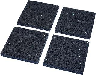 H&D viPads Schwingungsdämpfer / Vibrationsdämpfer für Waschmaschine, Trockner, Spülmaschine Subwoofer & Lautsprecher 9 cm x 9 cm x 1 cm, 4er Set