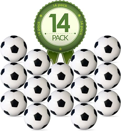 Colonel Pickles Novelties Foosball Table Replacement Foosballs- 14 Pack - 36mm Game Table Size - Black and White Tabl...