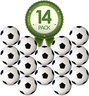 Colonel Pickles Novelties Foosball Table Replacement Foosballs- 14 Pack - 36mm Game Table Size - Black and White Tabletop ...