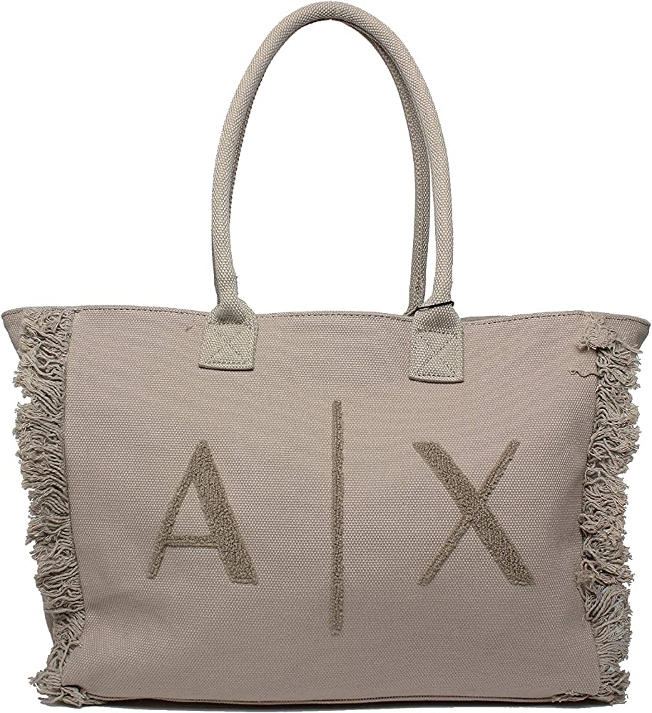 Armani exchange medium shopping,borsa per donna,in cotone 942727