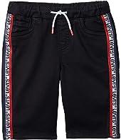 Soft Knit Jogger Shorts (Little Kids)