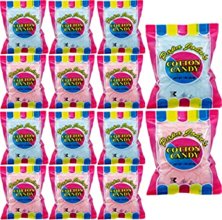 Papa John's Cotton Candy Blue and Pink Party Flavors Supplies Birthday Treats for Kids, Kosher, 1oz Bag (12-Pack)