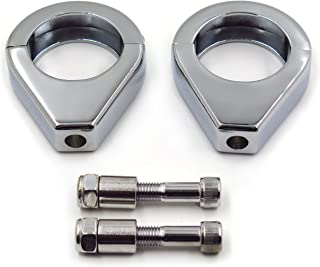 SMT MOTO- Motorcycle Turn Signal Clamps For Harley Softail Mount Bracket 49Mm Fork Tube CHROMED Motorcycle