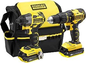 STANLEY FATMAX FMCK467D2-QW - Taladro percutor y atornillador de impacto 18V Brushless con 2 baterías de litio 2Ah y bolsa para transporte