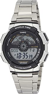 Casio Men's Grey Dial Stainless Steel Digital Watch - AE-1100WD-1AVDF