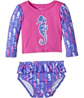 Hatley Kids - Sea Horse Rashguard Set (Infant)