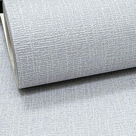 Grey Thick Textured Silver Glitter Vinyl Wallpaper Shimmer Linen Effect Plain