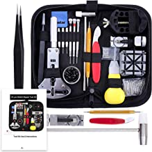 Vastar 151 PCS Kit Riparazione Orologi, Kit Attrezzi Orologiaio per Fai da te Orologi, Utensili per Orologio Riparazione