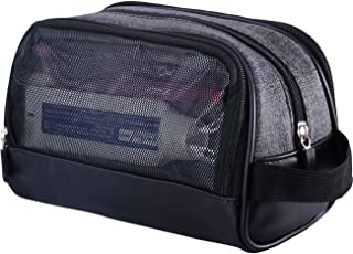 Travel Kit Toiletry Bag for Men Waterproof Cosmetic Makeup Shower Bag Shaving Dopp Kit Case Accessories Organizer with Side Hand Strap