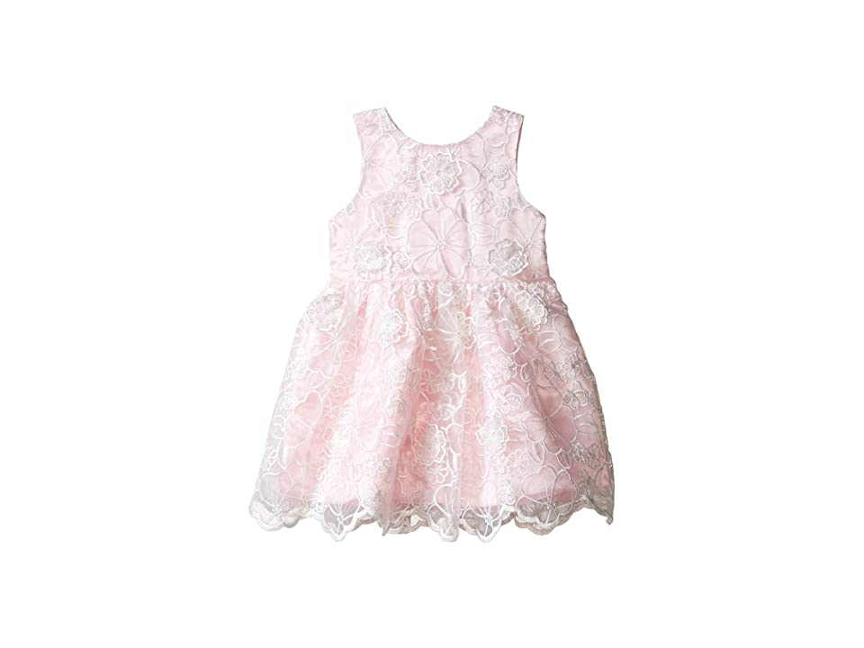 Nanette Lepore Kids Embroidered Organza Dress (Infant) (Light Pink) Girl