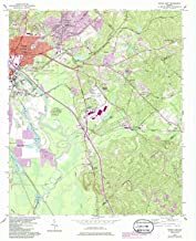 YellowMaps Macon East GA topo map, 1:24000 Scale, 7.5 X 7.5 Minute, Historical, 1956, Updated 1986, 26.9 x 22 in