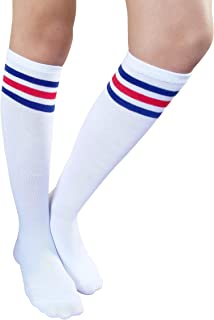 AM Landen Women Casual Knee High Tube Socks Mid-Calf Socks Costume Cosplay Socks Girls Novelty Socks