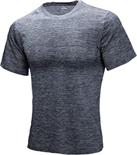 ZITY Men's Short Sleeve Crew Neck T-Shirts,Slim Fit Breathable Mesh Tees