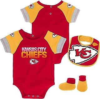 Outerstuff NFL Unisex-Baby Newborn & Infant 50 Yard Dash Bodysuit, Bib & Bootie Set