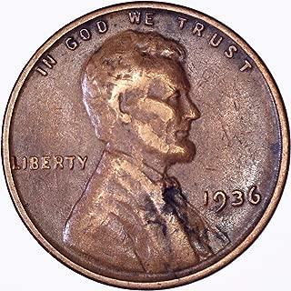 1936 Lincoln Wheat Cent 1C Very Fine