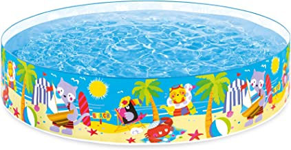 Kids Fill 'N Fun Pool. Big Kiddie Above Ground Swimming Pool is Great for Children & Toddlers to Have Outdoor Water Fun with Toys & Floats. This Baby Sea SnapSet Pool - Light & Portable. Heavy-Duty.
