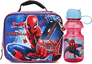 Spiderman Far From Home Rectangular Lunch Box and Water Bottle Bundle.