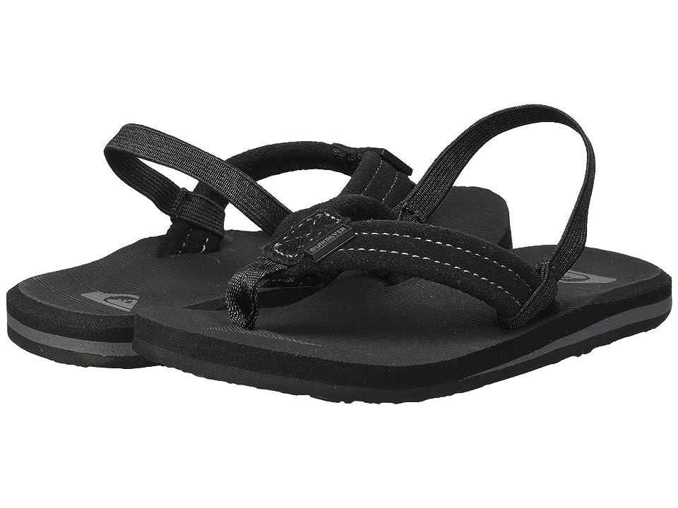 Quiksilver Kids Carver Suede (Toddler) (Solid Black) Boys Shoes