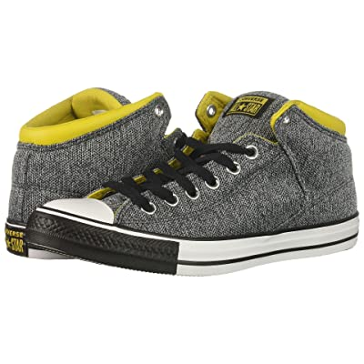 Converse Chuck Taylor(r) All Star(r) High Street Hi (Almost Black/Vivid Sulfur/White) Men