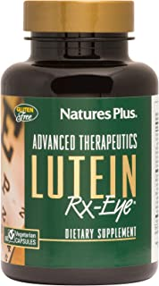 NaturesPlus Advanced Therapeutics Lutein Rx-Eye - 20 mg, 60 Vegetarian Capsules - Eye Function Support Supplement Enhanced...