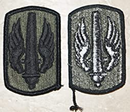 Military Patch US Army 18th Fires Brigade Field Artillery Green OD BDU Sew-on