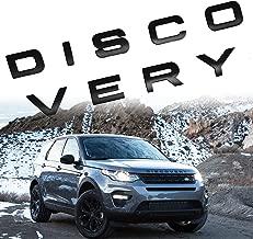 Car Sales 3D Matte Black Letter DISCOVERY Car Rear Front Badge Emblem Decal Sticker For L-A-N-D R-O-V-E-R Front Hood Rear Trunk (Discovery, Matte black)