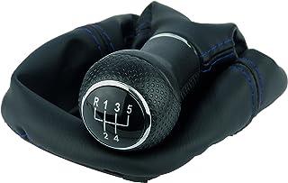 L & P Car Design L&P A252 12 Schaltsack Schaltmanschette Schwarz Naht Blau Schaltknauf 5 Gang 23mm kompatibel mit VW Golf 4 IV Rahmen Knauf Plug Play Ersatzteil für 1J0711113