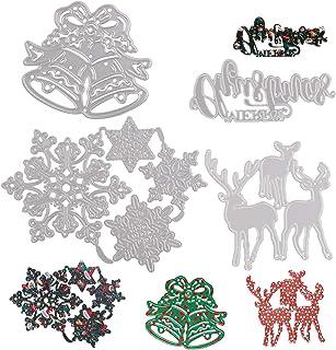 7 pièces de découpe de gaufrage de Noël,découpes pour la fabrication de cartes,Scrapbooking dies de decoupe pour la fabric...