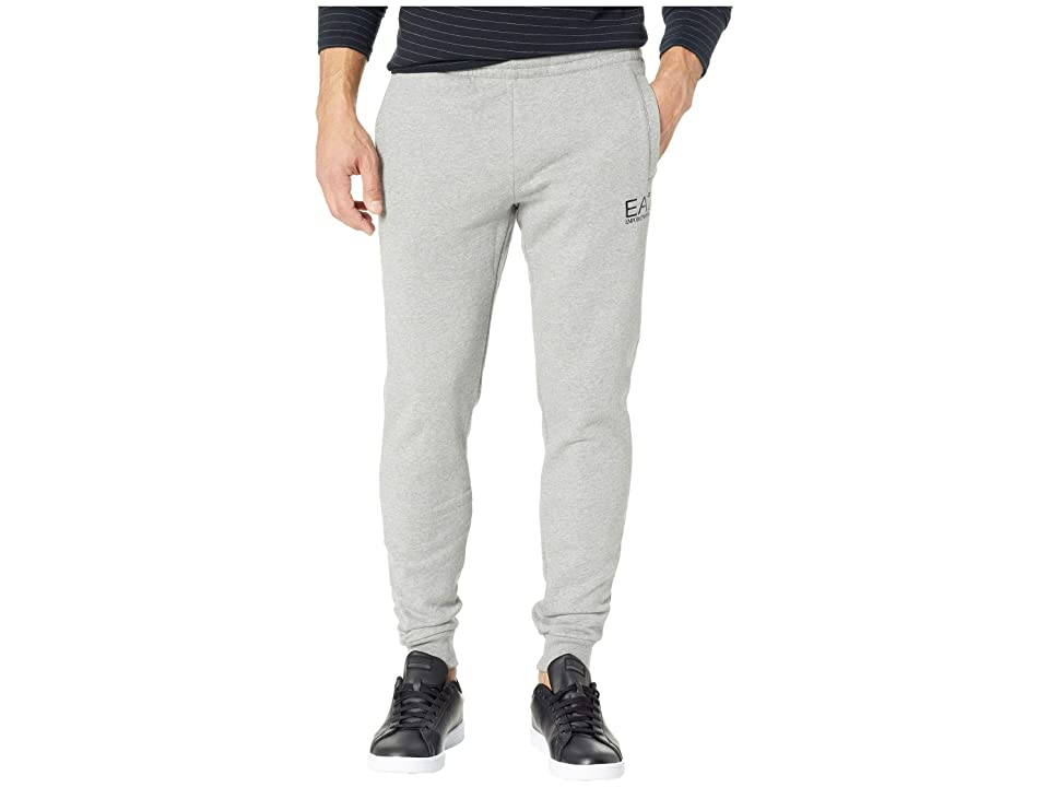 Emporio Armani EA7 Training Slim Fleece Sweatpants (Medium Grey Melange) Men