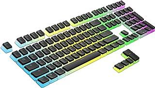 HK Gaming 108 Double Shot PBT Pudding Keycaps Ansi/ISO - OEM Profile Pudding Keyset 60% / 87 TKL / 104/108 MX Switches Bac...