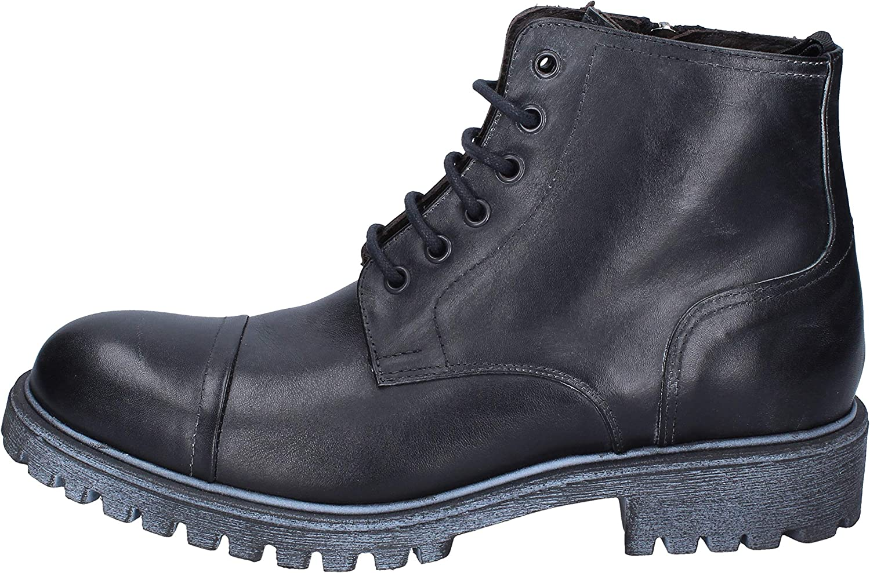 OSSIANI Boots Mens Leather Black