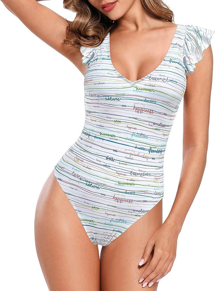 shekini, costume da bagno per donna, intero, 82% poliammide, 18% elastan, a striscie 1182c