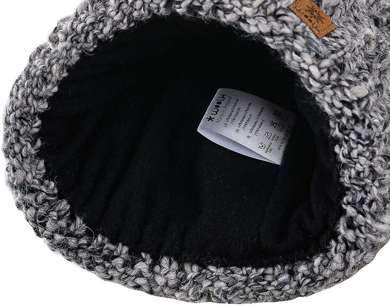 4sold Ladies Chunky Soft Cable Knit Handmade Hat /& Scarf with Cosy Fleece Liner and Bobble Faux Fur Pompom
