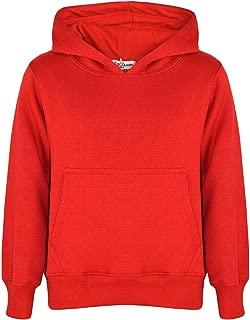 Nouveau Enfants Pull Plain Garçons Filles Enfants Sweat-shirt Polaire à Col Ras Du Cou Pullover