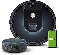 iRobot Roomba 981 - Robot Aspirador, WiFi, Aspiración de Alta Potencia, Dirt Detect, Recarga y Sigue la Limpieza + Echo Do...