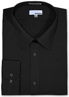 7e58dc729e5 Modena Big and Tall Poplin Dress Shirt - Black