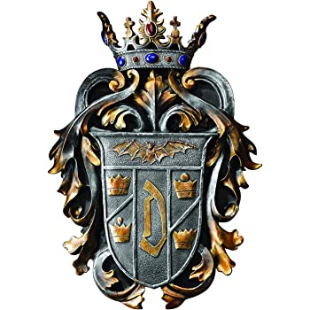 Amazon Com Design Toscano Cl6100 Count Dracula S Coat Of Arms Wall Plaque Multicolored Home Kitchen