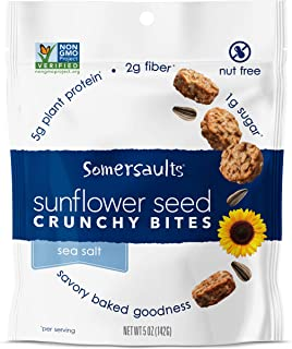 Best Somersaults Sunflower Seed Bites, Sea Salt, 5 Ounce (Pack of 6) Review