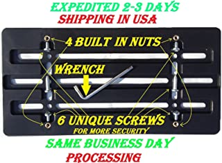 TrunkNets Front Bumper License Plate Bracket for Audi & 6 Secure Screws & Wrench Kit