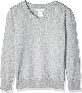 Amazon Essentials Boys' Uniform V-Neck Sweater