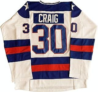 1980 Miracle On Ice Team USA Jack O'Callahan 17, Mike Eruzione 21, Jim Craig 30 Ice Movie Hockey Jersey S-3XL