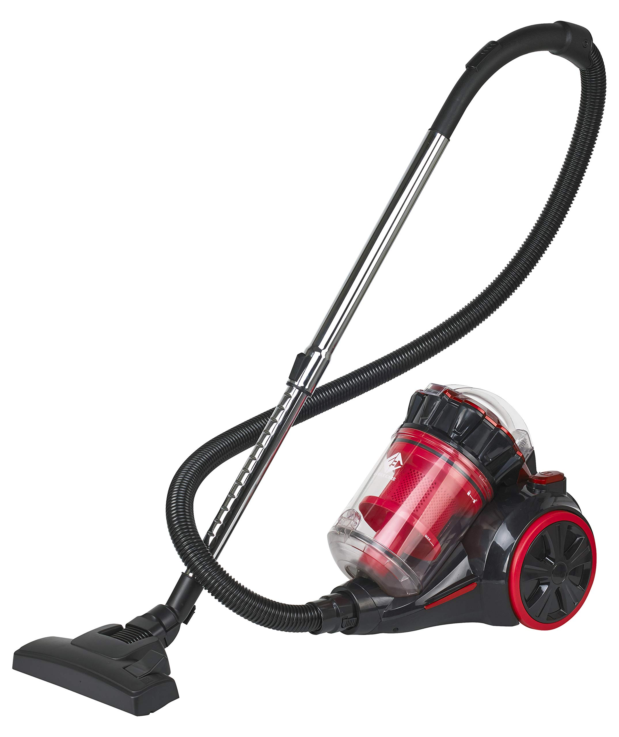 Family Care Aspirador ciclónico sin bolsa, depósito 3L, 700W, filtro HEPA hipoalergénico, Eficiencia energética A+++, color rojo-negro: Amazon.es: Hogar