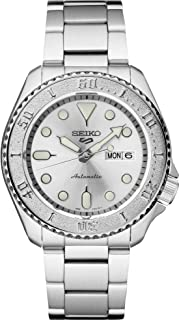 Seiko Men's 5 Sports Automatic Watch with Stainless Steel Strap, Silver, 22 (Model: SRPE71)