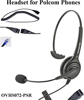 OvisLink Noise Canceling Call Center Headset Compatible with Polycom IP Phone VVX Series, CX Series and Soundpoint Series