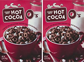 Trader Joe's Hot Cocoa O's Cereal (pack of 2) Crispy oat, corn, cocoa hoops with freeze dried marshmallows